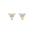 SANDI TRIANGLE WHITE CUBIC ZIRCONIA EARRINGS