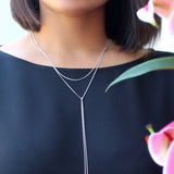 SKY TOPAZ TIE NECKLACE