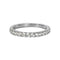 TARA PAVE 2MM WHITE CZ RING
