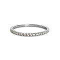 TARA PAVE 1MM WHITE CUBIC ZIRCONIA RING