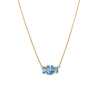 TRIO STONE NECKLACE - BLUE TOPAZ