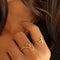 ARUNA PLAIN BAR RING - GOLD