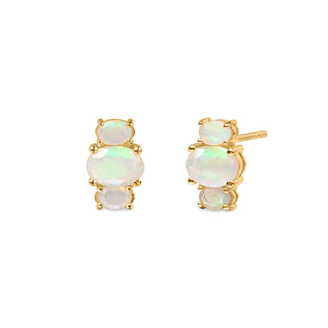 TRIO STONE EARRINGS - ETHIOPIAN OPAL