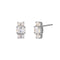 TRIO STONE EARRINGS - WHITE CZ