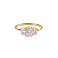 TRIO STONE RING - WHITE CZ - GOLD