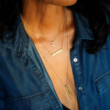 PRANAWA NAME BAR NECKLACE - VERTICAL