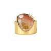 VIRA BOLD RING - PINK SLICED QUARTZ