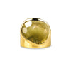VIRA BOLD RING - GREEN SLICED QUARTZ