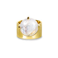 VIRA BOLD RING - RAINBOW MOONSTONE