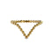 GIRI CHEVRON DOTTED RING - GOLD