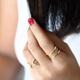 GIRI DOUBLE TRIANGLE RING - GOLD