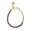NIRMALA BEAD BRACELET WITH TUBE - SMOKEY QUARTZ