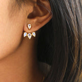 BASKARA EAR JACKETS - RAINBOW MOONSTONE