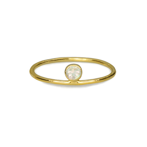 DIPTA TINY RING - RAINBOW MOONSTONE - GOLD