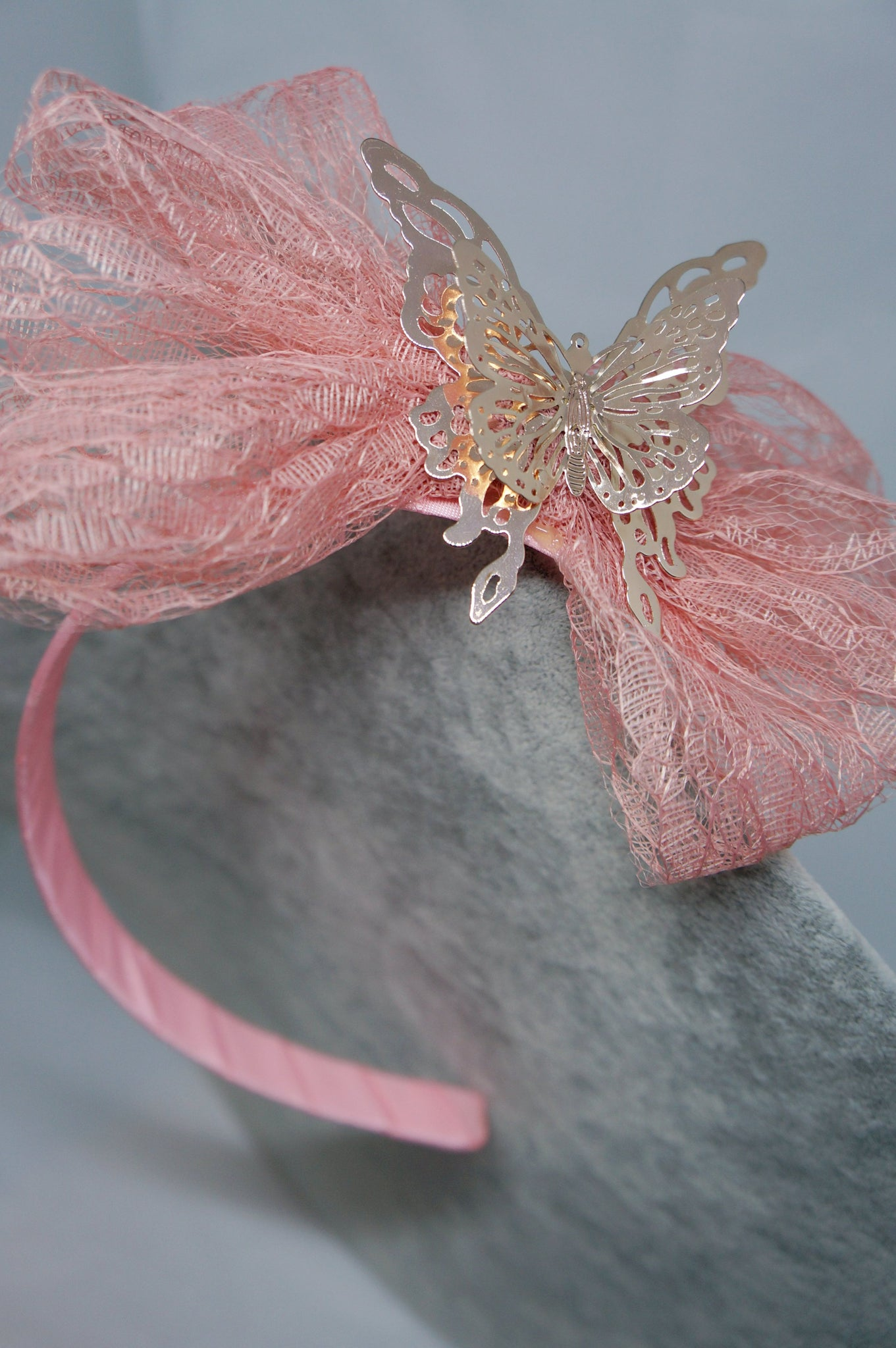 PETRA Kids Butterfly Lace Headband Coral