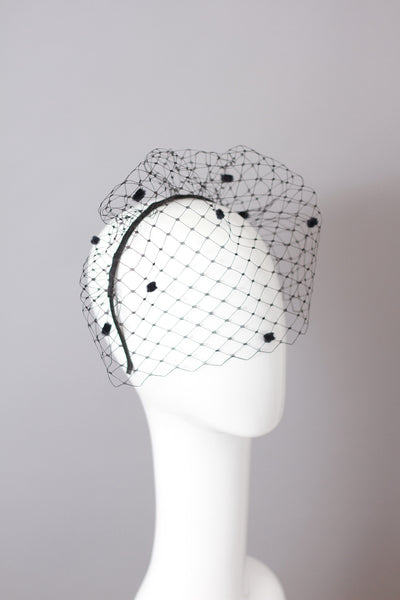 GIANA Spotted Veil Headband