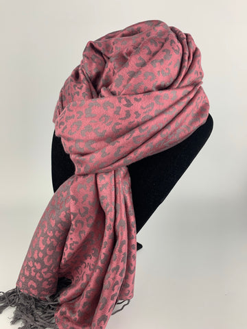 Hot Pink Leopard Scarf