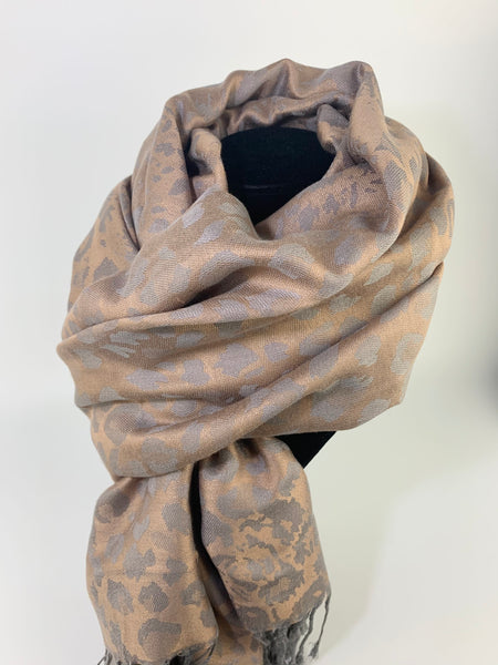 Gold Leopard Scarf