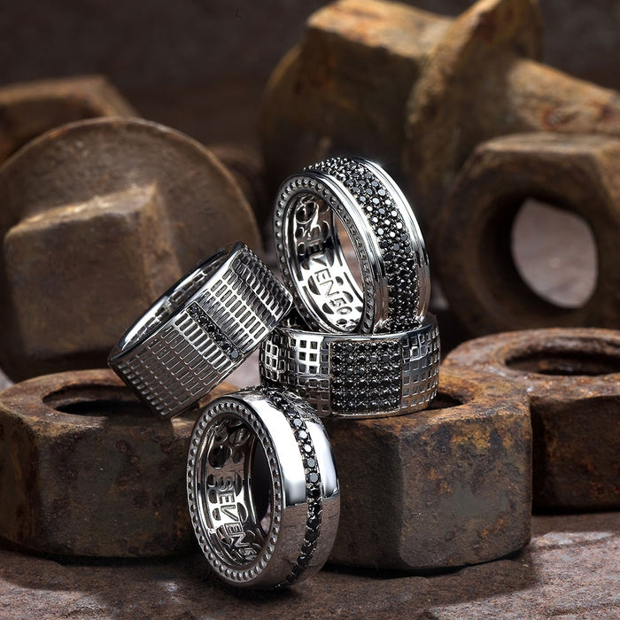 Black diamonds signet rings by seven50