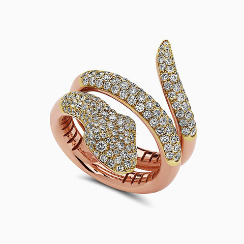 NIA LYNN JEWELS BY NICOLE WILLIAMS X SEVEN50 - 18K ROSE GOLD SNAKE RING