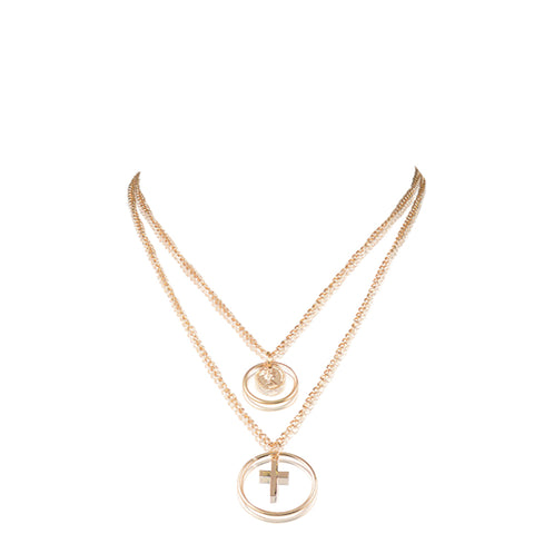 Cross Miraculous Medal Necklace by Liza Lash x seven50