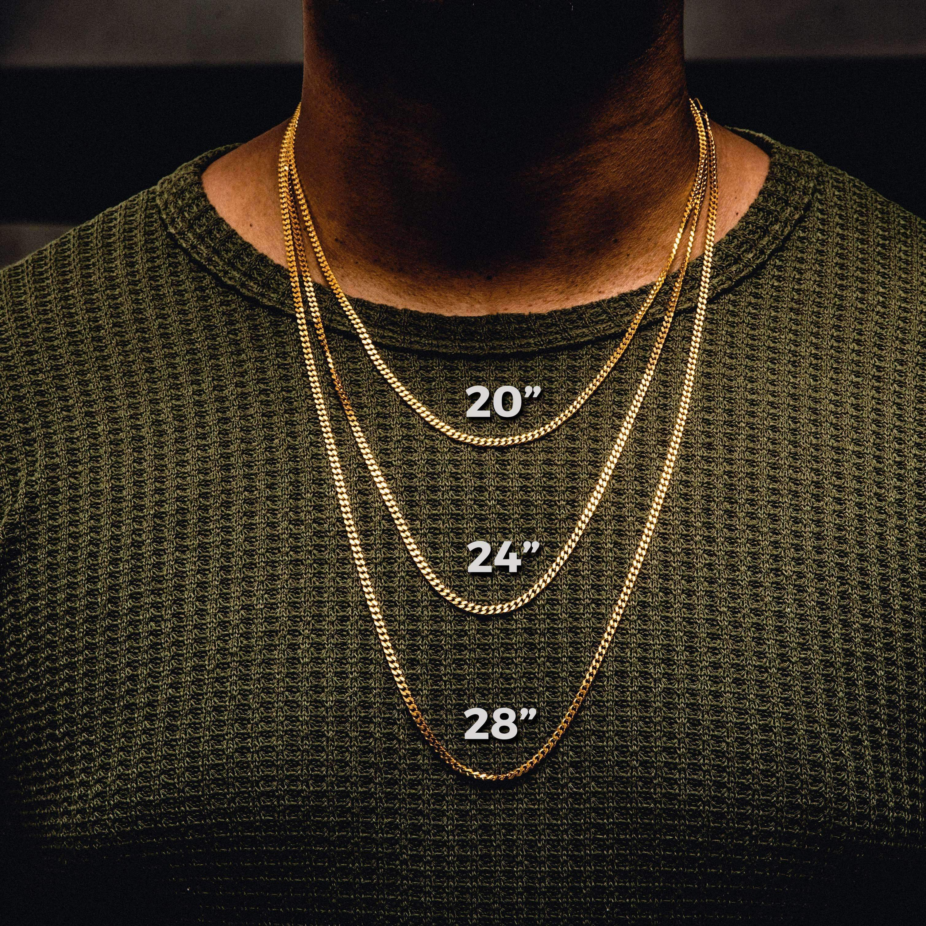 Men Necklace Length Guide: How To Measure & Choose The Right Necklace Chain Length