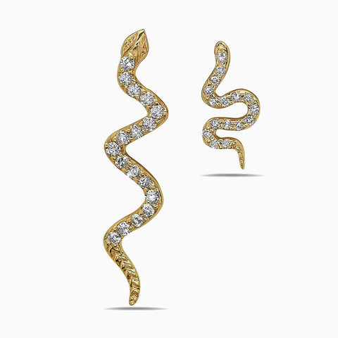 NIA LYNN JEWELS BY NICOLE WILLIAMS X SEVEN50 - MOM AND SON SNAKE EARRINGS