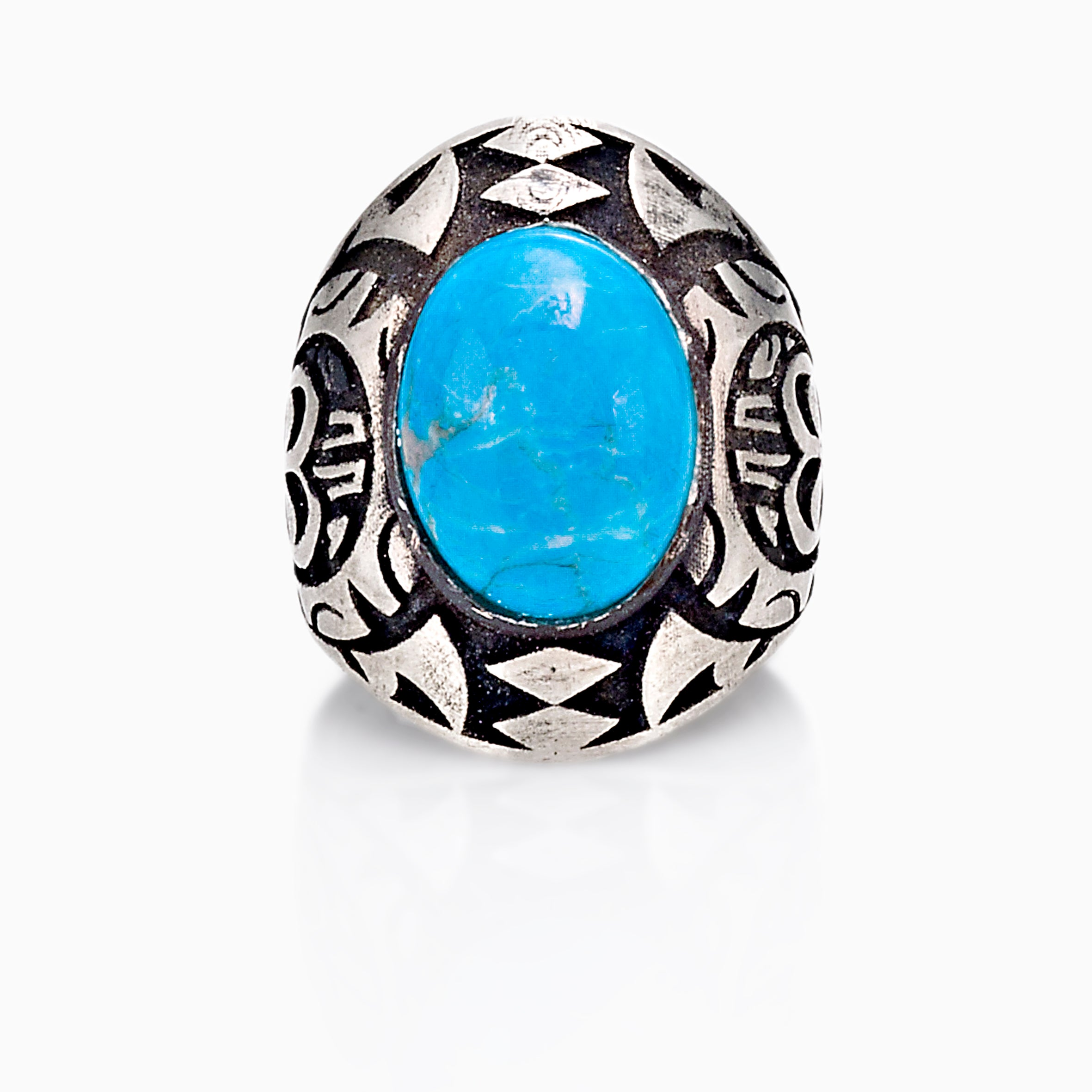 If your man is a little more daring,  you might consider a ring with a gemstone. It could be fun to shop for the male version of the cocktail ring, whether for daily wear or just for a special occasion. NOVICA carries a wide variety of men's jewelry especially rings with stones: tiger's eye, onyx, turquoise, they are all so pretty, yet masculine.