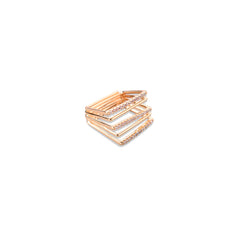 JESSICA MICHEL SERFATY SQUARE RING SET