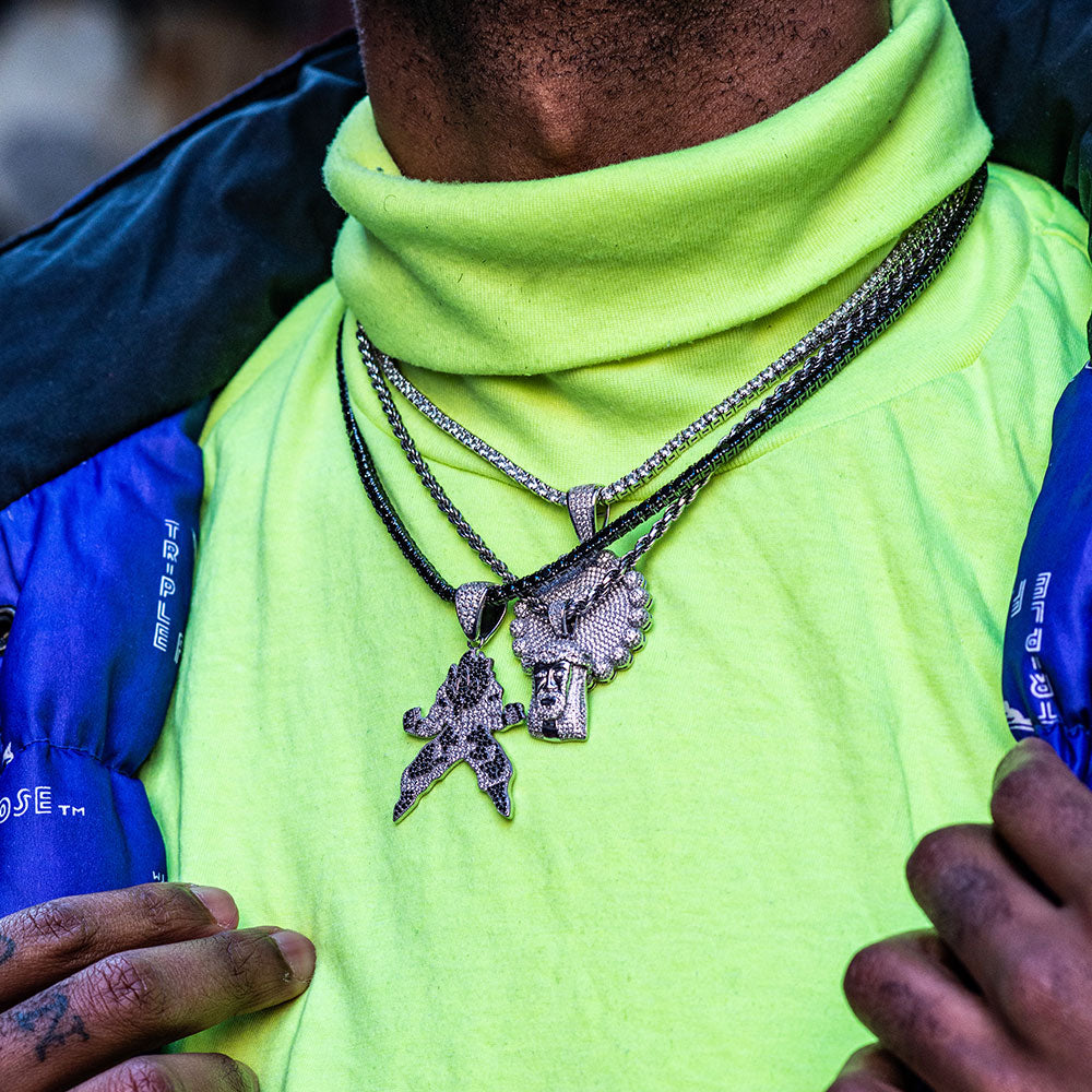 A hip-hop pendant is the true bling of your jewelry