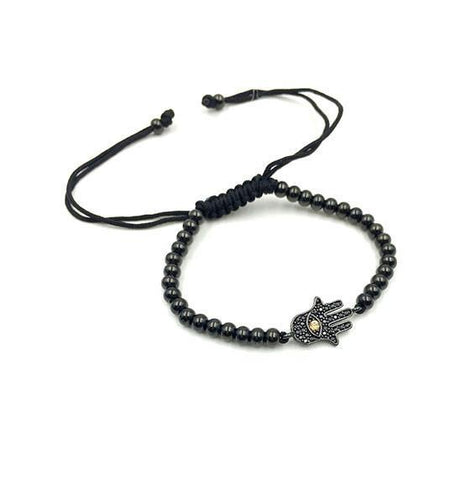 Charlie Matthews Black Bubble Evil Eye Bracelet