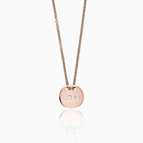 LIZA LASH - CIRCLE LOVE CHARM NECKLACE X SEVEN50