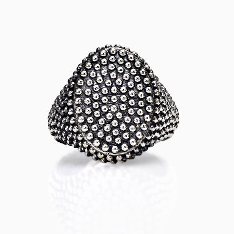 ANDREA MELCHIORRE -  DOTTED OVAL RING X SEVEN50