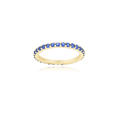 14K GOLD PLATED THIN COLORED ETERNITY BAND