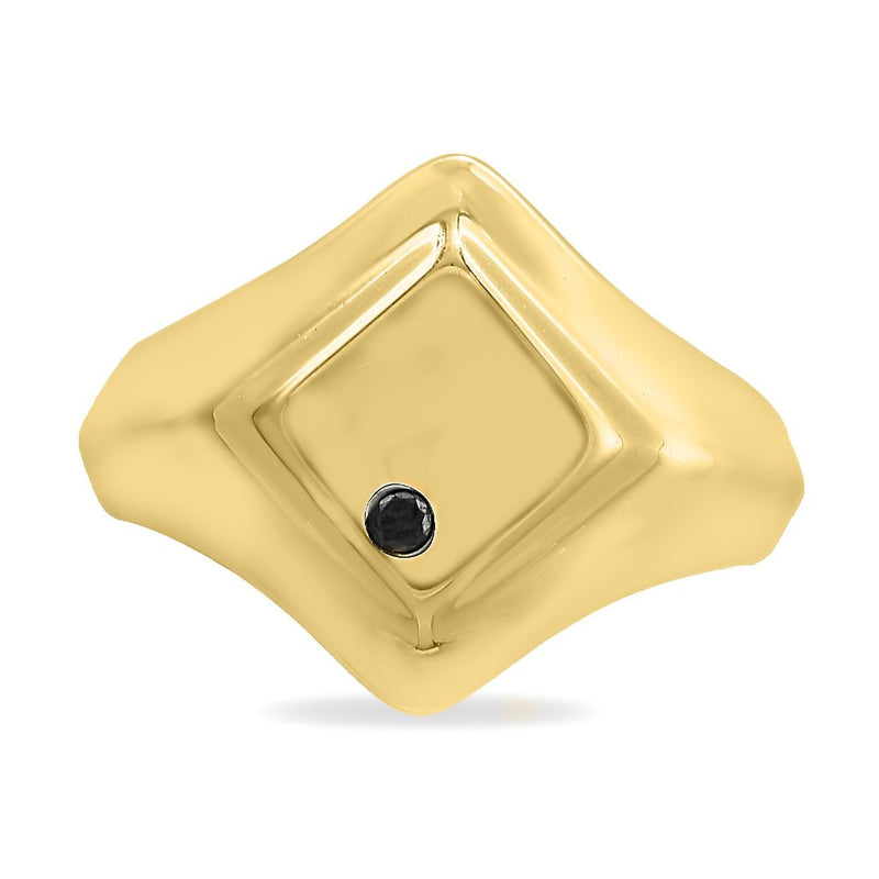DIAMOND SHAPE SQUARE SIGNET RING, WOMEN RING, ALICE WANG, SEVEN50 GROUP USA - SEVEN-50.COM