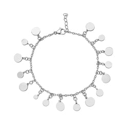 DELICATE DANGLING DISC BRACELET, Bracciale, JEWELS BY NIDA, SEVEN50 GROUP USA - SEVEN-50.COM