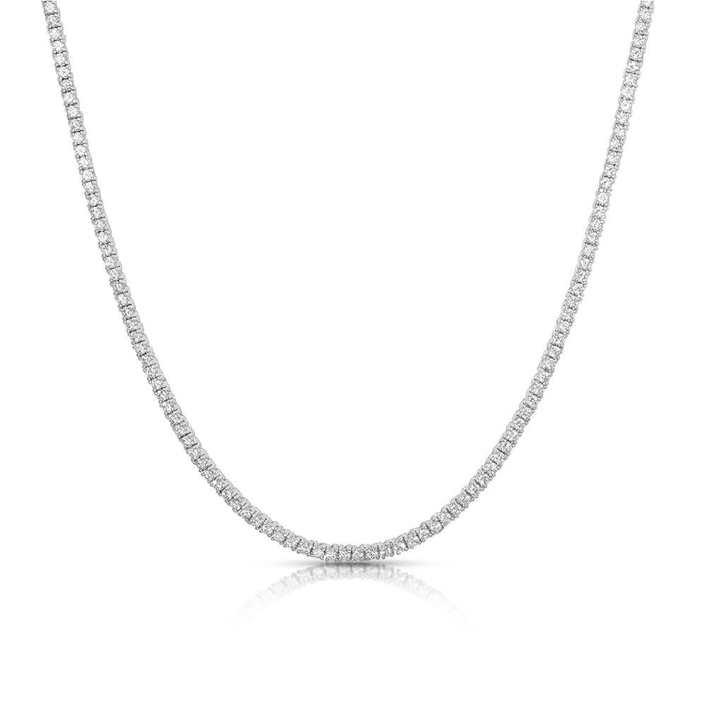 2MM ROUND CUT TENNIS NECKLACE WITH WHITE STONES