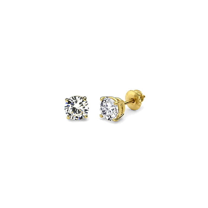 3mm-4mm-5mm--Diamonds-4-Prongs-yellow-gold-Studs-earrings-by-seven50