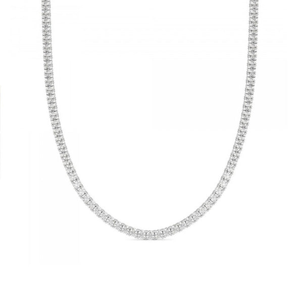 3MM ROUND CUT TENNIS NECKLACE WITH WHITE STONES