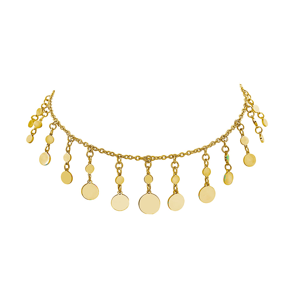 MINI REGAL DISC CHOKER NECKLACE, Collana, JEWELS BY NIDA, SEVEN50 GROUP USA - SEVEN-50.COM