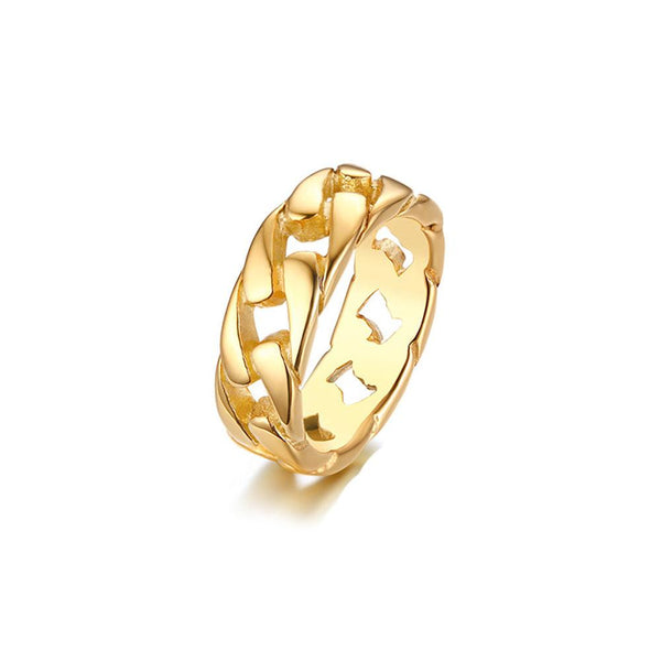 7 MM CURB CHAIN BAND RING