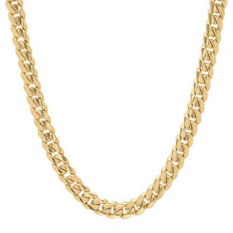MIAMI CUBAN LINK ( 8 MM ) STERLING SILVER NECKLACE