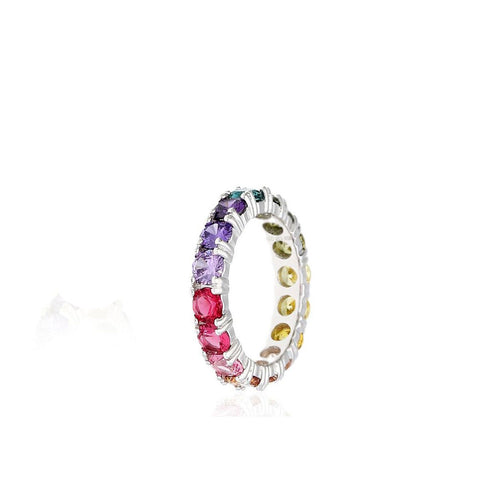 925-Sterling-Silver-white-Gold-Plated-Round-Cut-Rainbow-Multi-Color-Cubic-Zirconia-Eternity-Band---Featured-Products