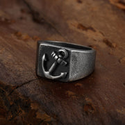 Aged-Rectangular-stainless-steel-anchor-signet-ring-for-men-and-women-by-seven50-2