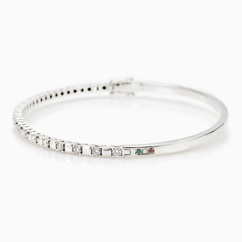 BANGLE DIAMONDS BRACELET, BRACELET, ANDREA DENVER, SEVEN50 GROUP USA - SEVEN-50.COM