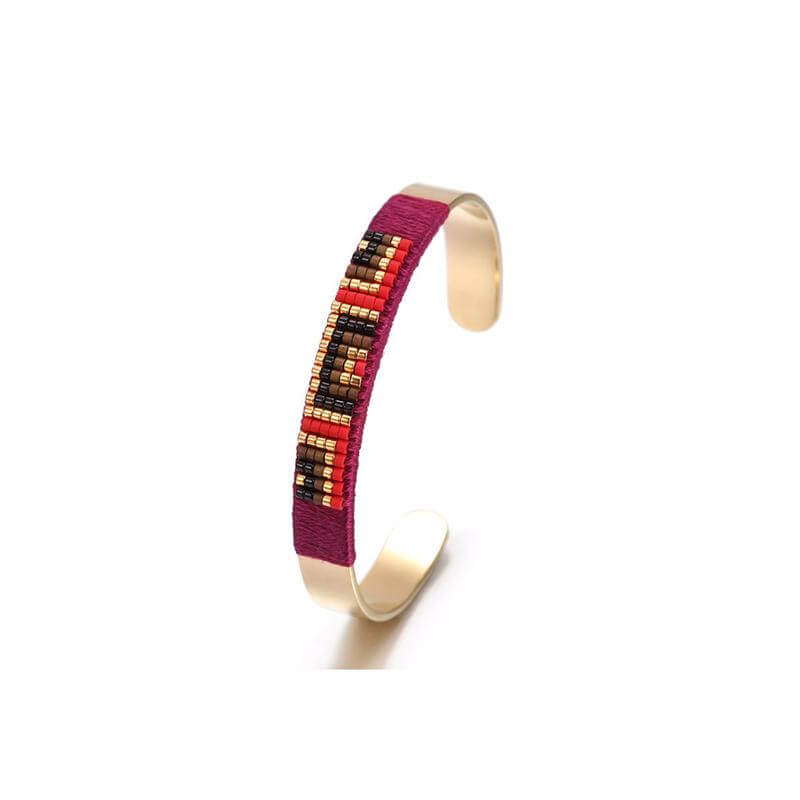 BANGLE MULTI COLOR MINI BEADS BRACELET, Bracciale, JESSICA MICHEL SERFATY, SEVEN50 GROUP USA - SEVEN-50.COM