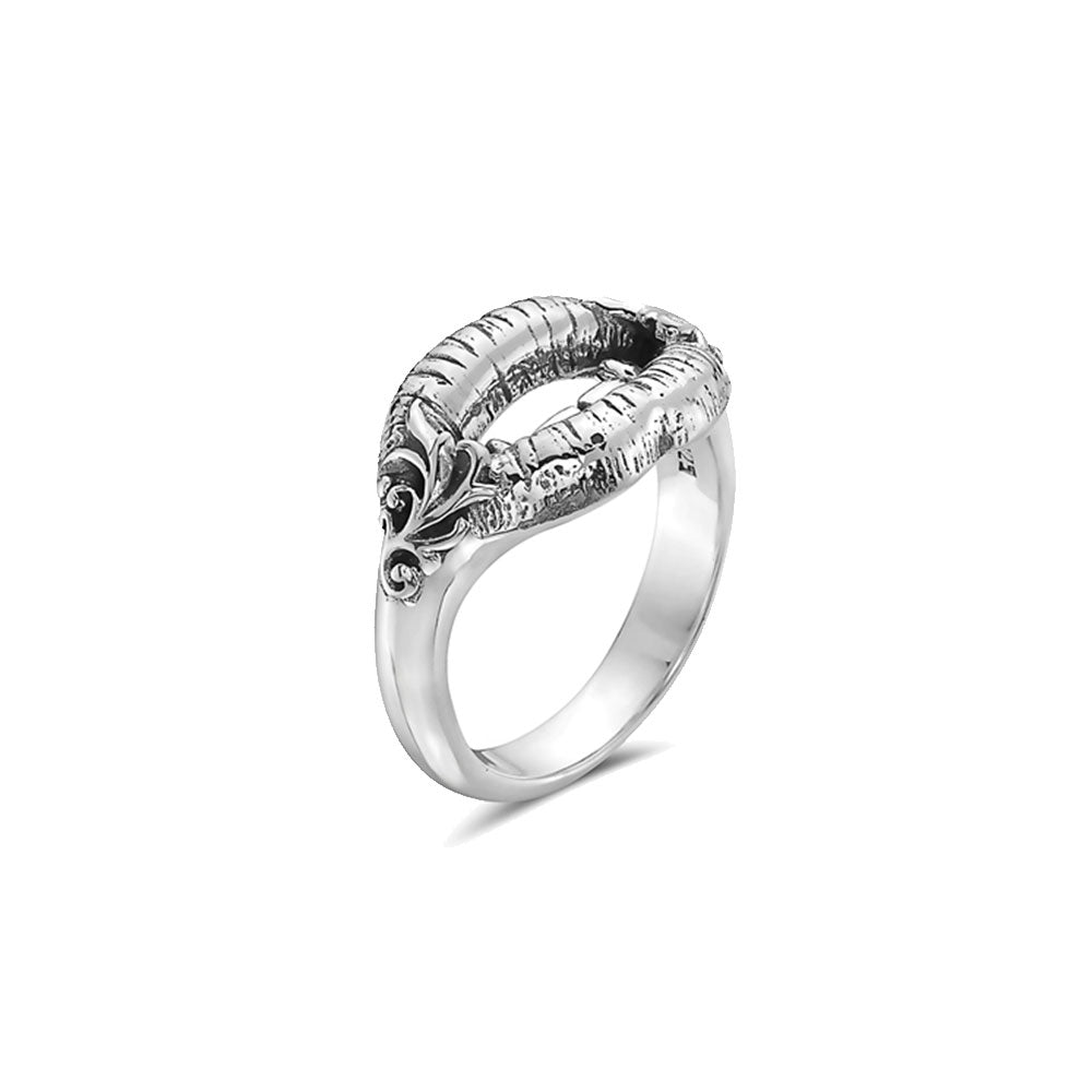 Billy Huxley Solid Sterling Silver Devil Lips Ring - Billy Huxley with Forever Loaded for SEVEN50
