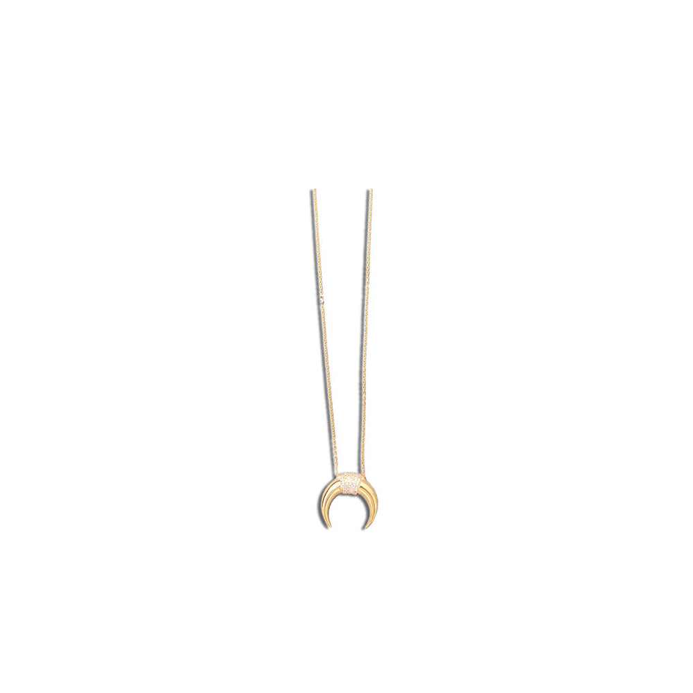 CENTER STONES HORN NECKLACE, Collana, JESSICA MICHEL SERFATY, SEVEN50 GROUP USA - SEVEN-50.COM