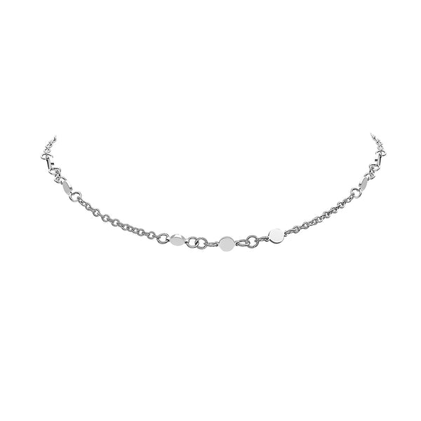 DELICATE CHOKER SPACED DISC NECKLACE