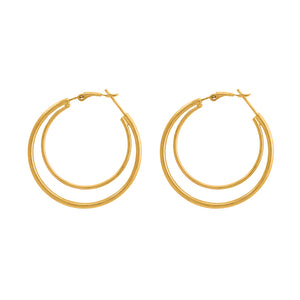 DOUBLE HOOPS EARRINGS, EARRINGS, SEVEN50 WOMAN, SEVEN50 GROUP USA - SEVEN-50.COM